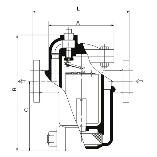 Nodulair Gietijzer Armstrong omgekeerde emmer condenspot|680F Series